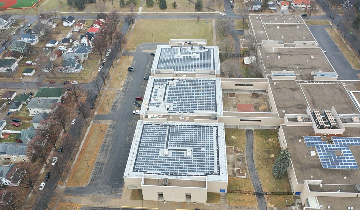 North High Project Aerial Shot